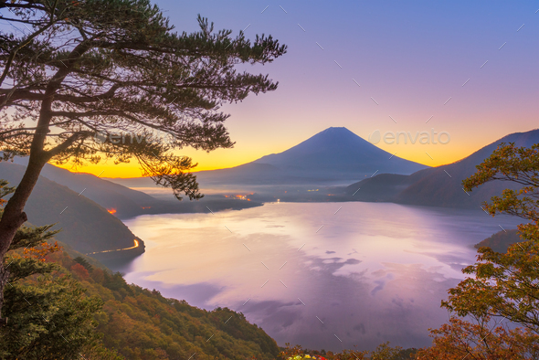 Mt. Fuji, Japan at Lake Motosu - Stock Photo - Images