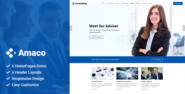 Amaco - Consulting HTML5 Template
