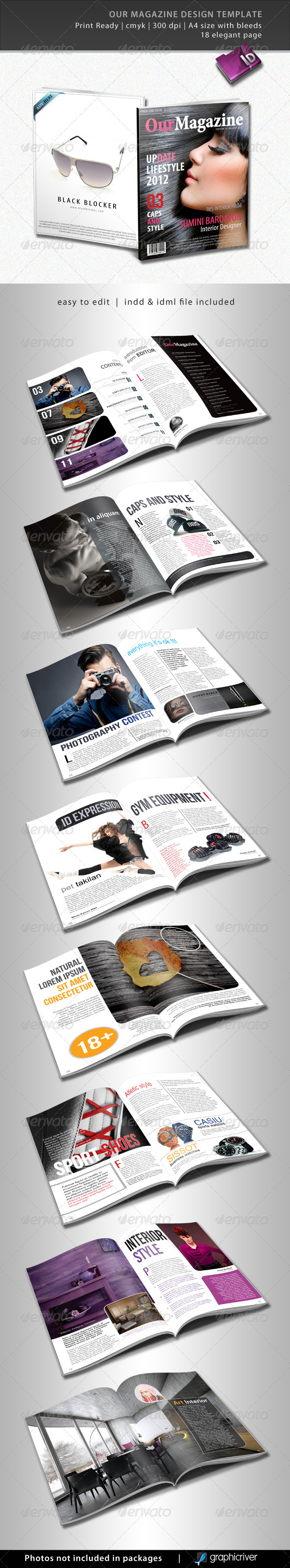 Our Magazine Design Template - Magazines Print Templates