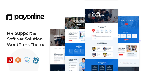 Payonline - Online Payroll and HR Software WordPress Theme