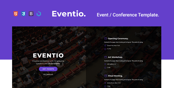 Eventio — Event & Conference Multi-Purpose Template