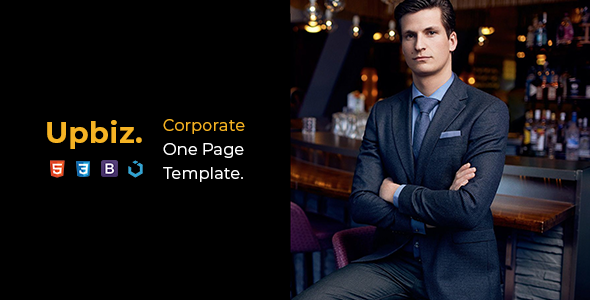 Upbiz — Corporate One Page Template