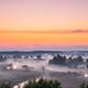 Amazing Sunrise Sunset Over Misty Landscape. Scenic View Of Fogg - PhotoDune Item for Sale