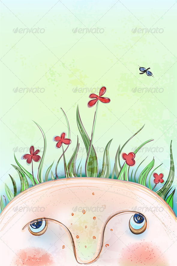 Download Summer Flowers Head AI EPS Vector