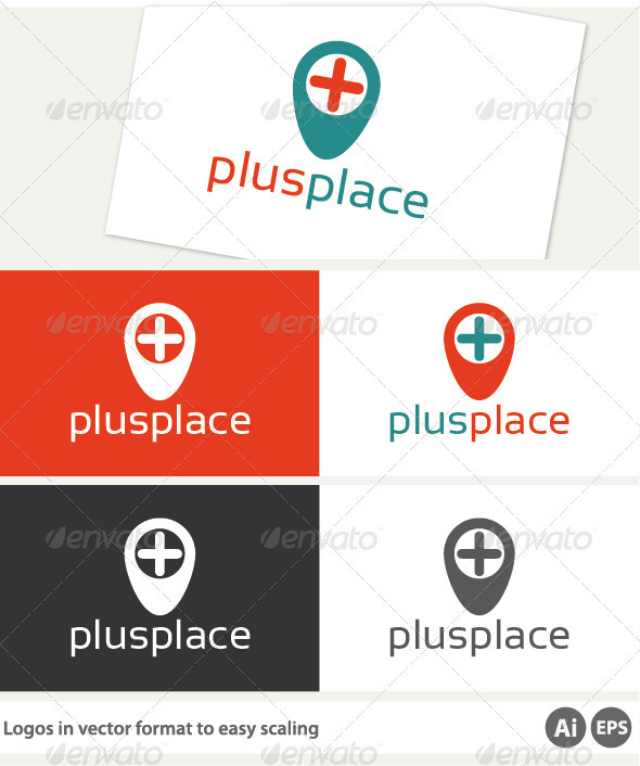 Plus Place Logo - Symbols Logo Templates