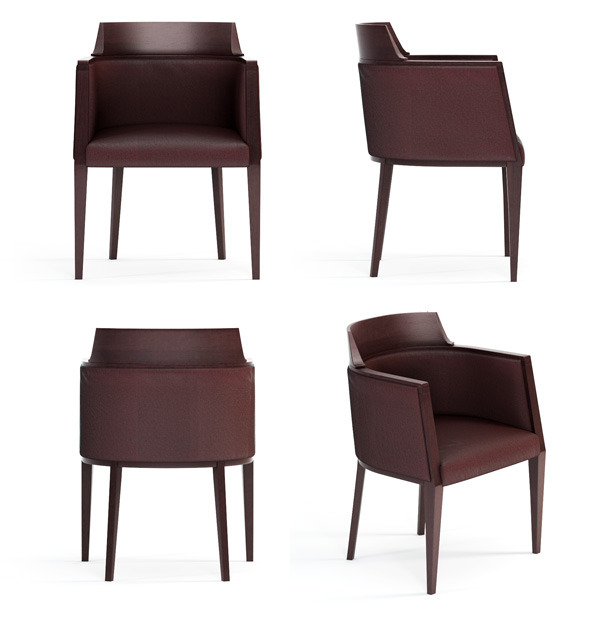 Quality 3dmodel of modern chair Juliet. Bross - 3DOcean Item for Sale