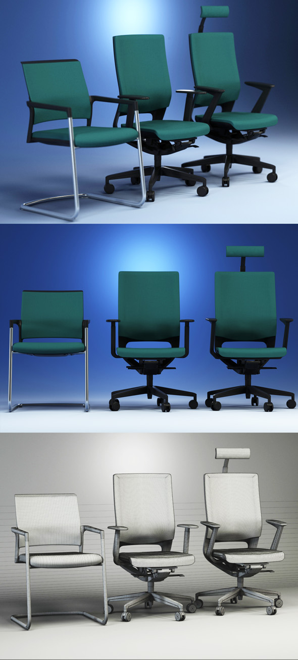 Quality 3dmodel of modern chairs Mera. Kloeber - 3DOcean Item for Sale
