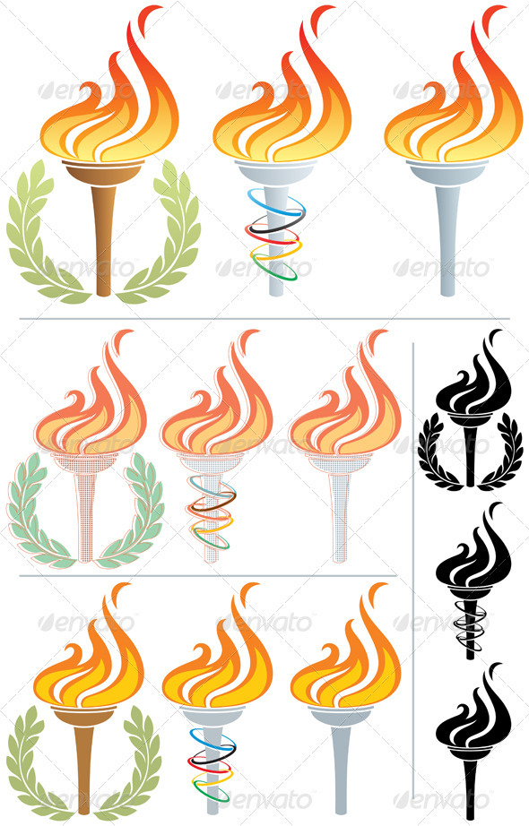 Flaming Torch - Decorative Symbols Decorative