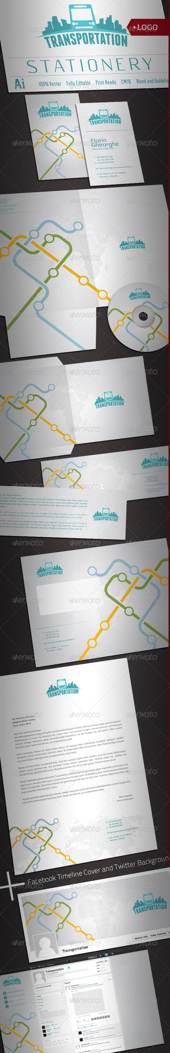 Passenger Transportation Stationery - Stationery Print Templates
