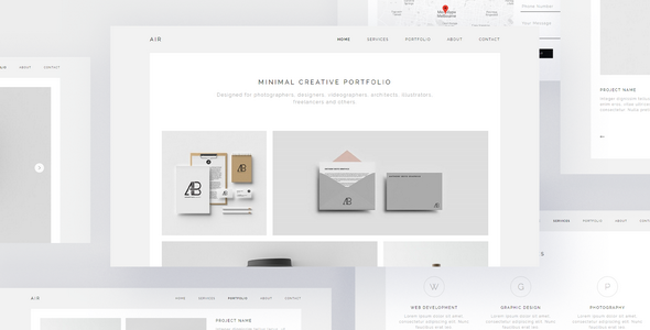 AIR - Minimal Portfolio Muse Template