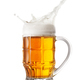 Foam splash in the faceted beer mug - PhotoDune Item for Sale