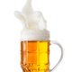 Foamy splash in a mug of light beer - PhotoDune Item for Sale