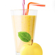 Glass of apple smoothie or yogurt with apple - PhotoDune Item for Sale