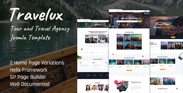 Travelux - Tour and Travel Agency Joomla Template