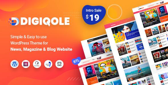 Digiqole - News Magazine WordPress Theme
