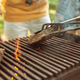 Close up of meat grilling, barbecue, summer lifestyle - PhotoDune Item for Sale