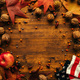 Autumn season arrangement top view with copy space - PhotoDune Item for Sale