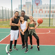 Group of young professional intercultural basketball players in sportswear - PhotoDune Item for Sale