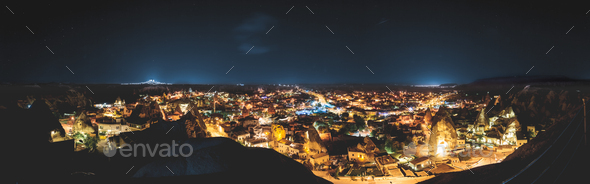 The night time at Cappadocia , Turkey - Stock Photo - Images