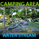 Natural Camping Area By Water Stream - VideoHive Item for Sale