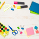 School and office sstationery on white background - PhotoDune Item for Sale