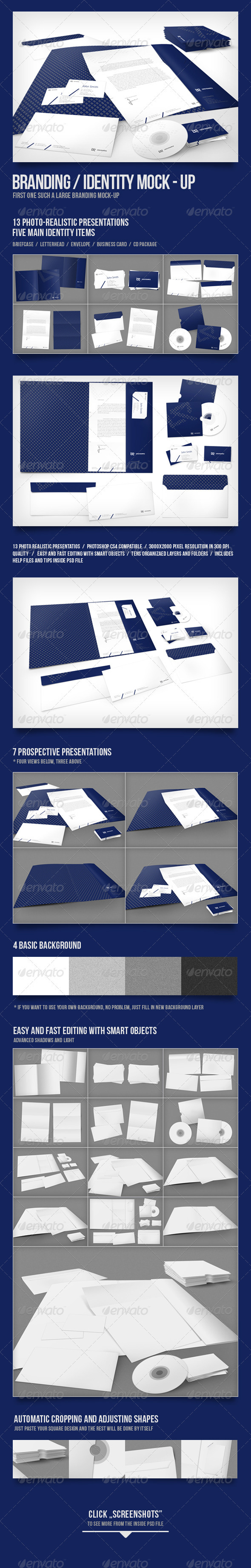 Branding/Identity Mock-up - Stationery Print