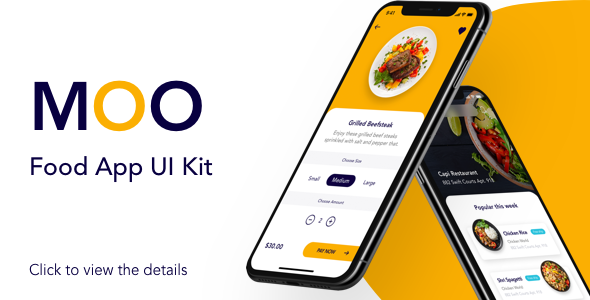 Moo - Mobile App Template - Design UI Kit