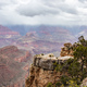 Grand Canyon, Arizona, USA. Overlook of the red rocks, cloudy sky background - PhotoDune Item for Sale