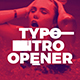 Typo Intro Opener - VideoHive Item for Sale