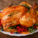 Christmas turkey. Traditional festive food for Christmas or Thanksgiving - PhotoDune Item for Sale
