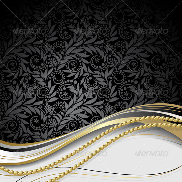 Black and gold background  - Backgrounds Decorative