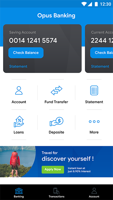 Online Banking Android App + iOS App Template | Opus Banking (HTML+CSS  files IONIC 3)