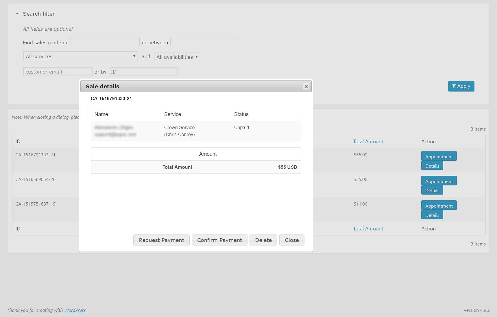 Calendarista Premium - WP Appointment Booking Plugin and Schedule System