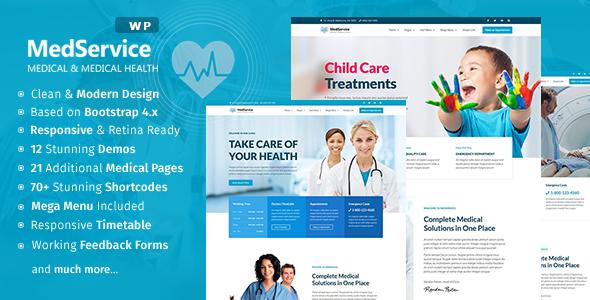 MedService - Medical Clinic Hospital WordPress Theme