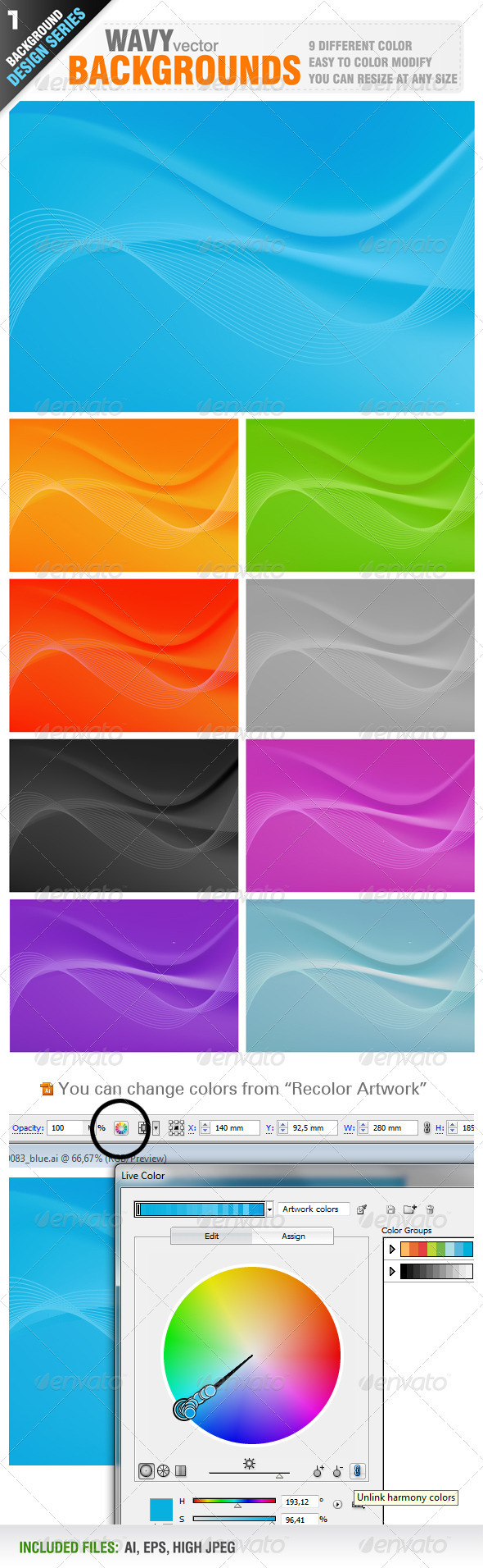 Wavy Background - Backgrounds Business