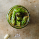 Top view of pickled asparagus in a jar - PhotoDune Item for Sale