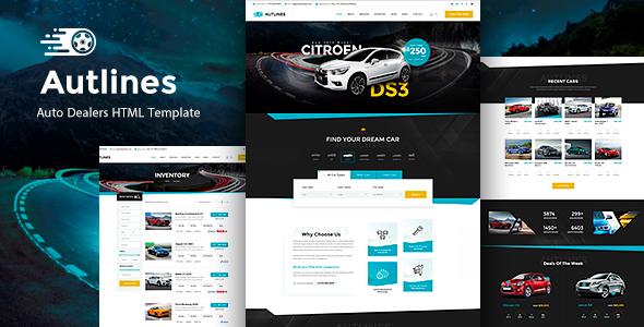 Autlines - Autodealer HTML  Template by Templines
