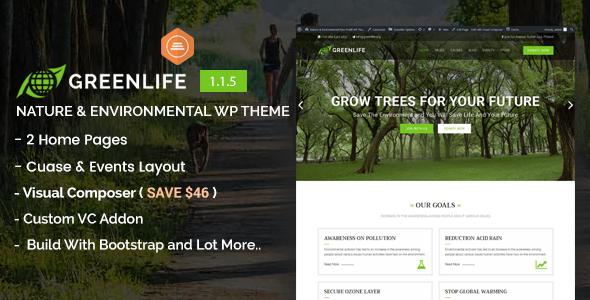 Greenlife - Nature & Environmental WP Theme
