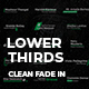 Lower Thirds   Clean Fade In - VideoHive Item for Sale