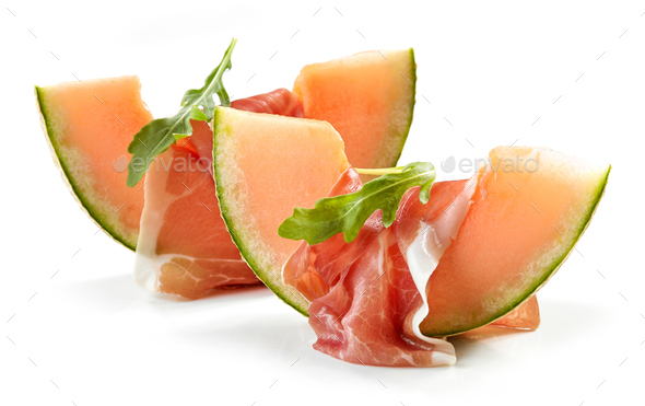 Melon with ham - Stock Photo - Images