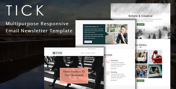 Tick - Multipurpose Responsive Email Template by fourdinos