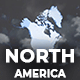 Map of North America with Countries - North America Map Kit - VideoHive Item for Sale