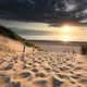 sand path to sea beach in summer at sunset - PhotoDune Item for Sale