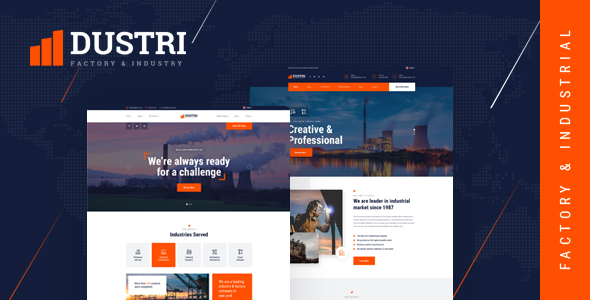 Dustri - Factory & Industrial HTML Template by themesflat