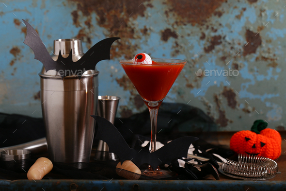 Cocktail for the Holiday Halloween - Stock Photo - Images