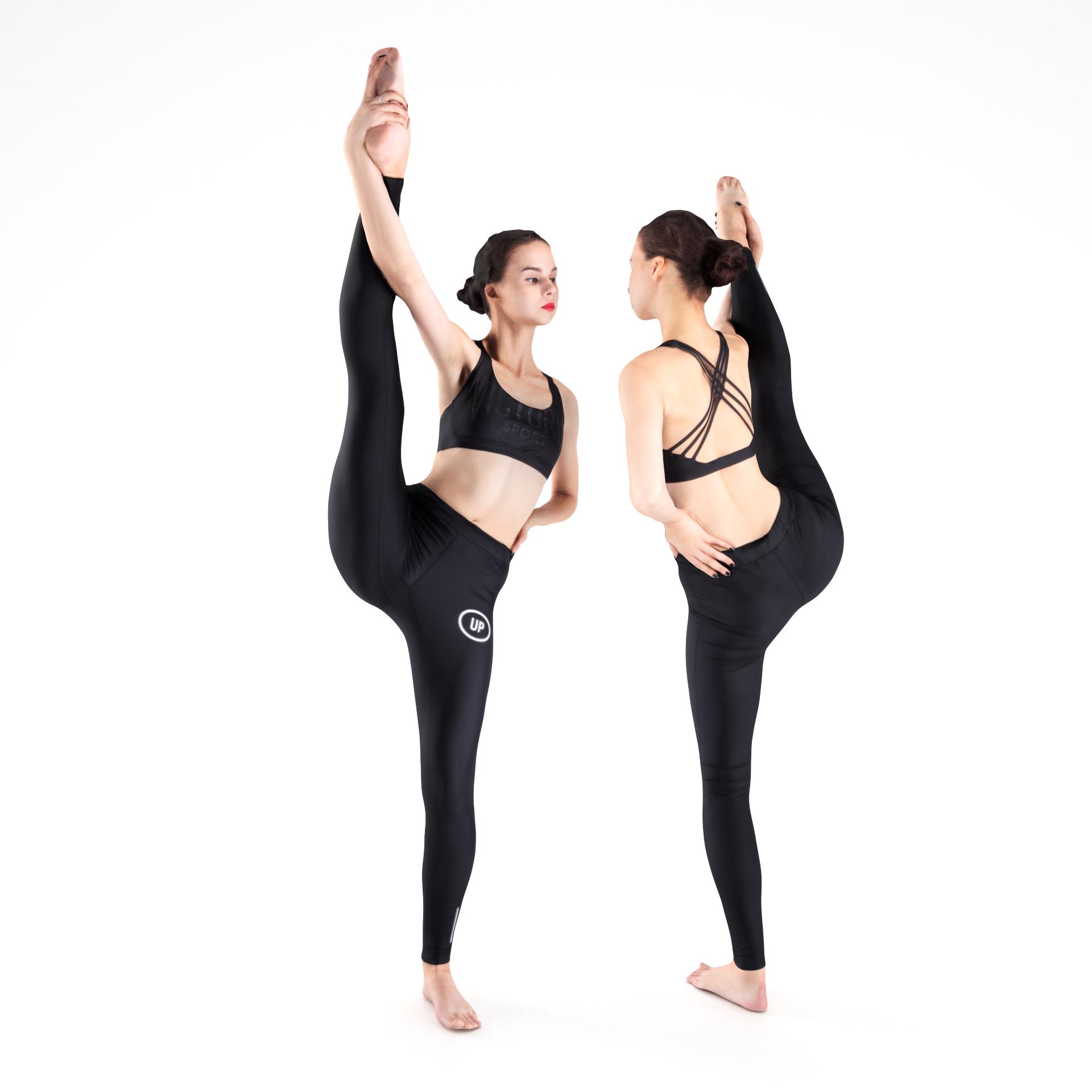 Scan dancing female 19 Low-poly 3D model