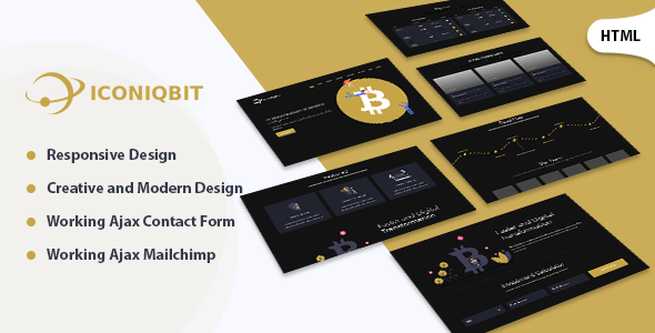 Iconiqbit | Cryptocurrency HTML Template