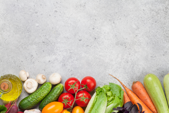 Assorted raw organic vegetables - Stock Photo - Images