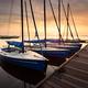 serene charming harbor at sunrise with yachts - PhotoDune Item for Sale