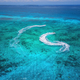 Aerial view of floating water scooter in blue water at sunny day - PhotoDune Item for Sale